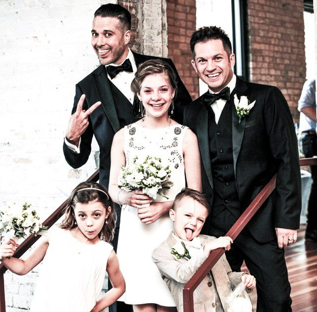 lgbt couple had wedding party with their daughter
