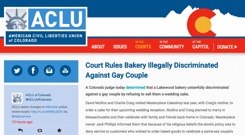 Court Rules Bakery Illegally Discriminated Against Gay Couple