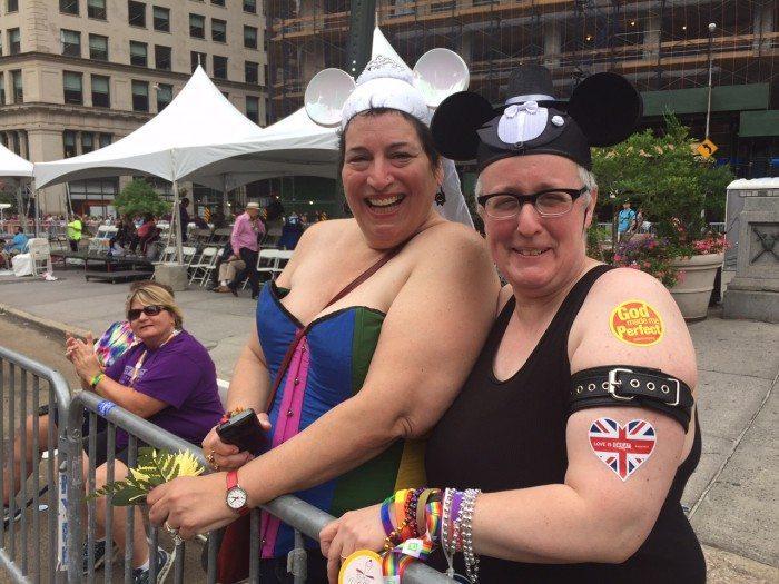 Couples in NY pride parade