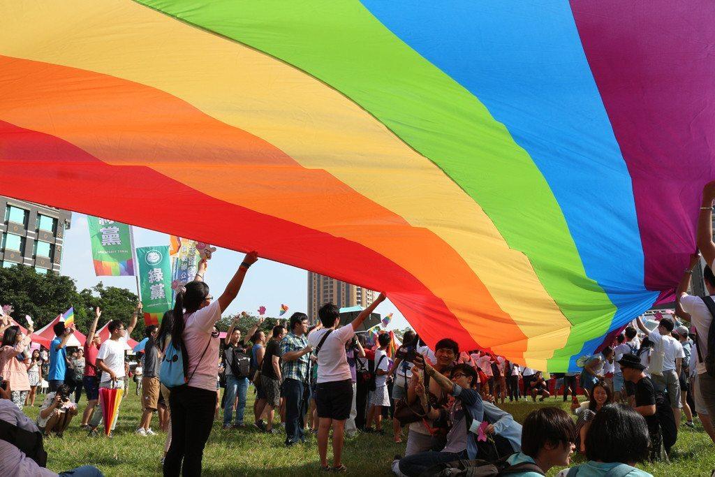 Taichung LGBT Pride huge flag