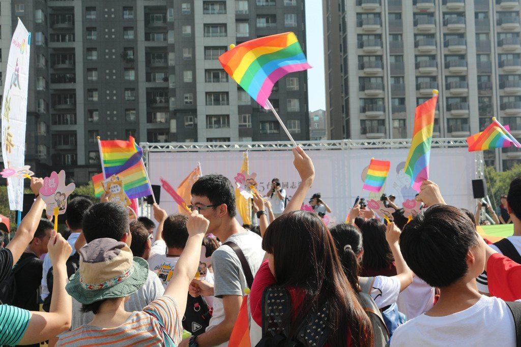 Taichung LGBT Pride rainbow flag