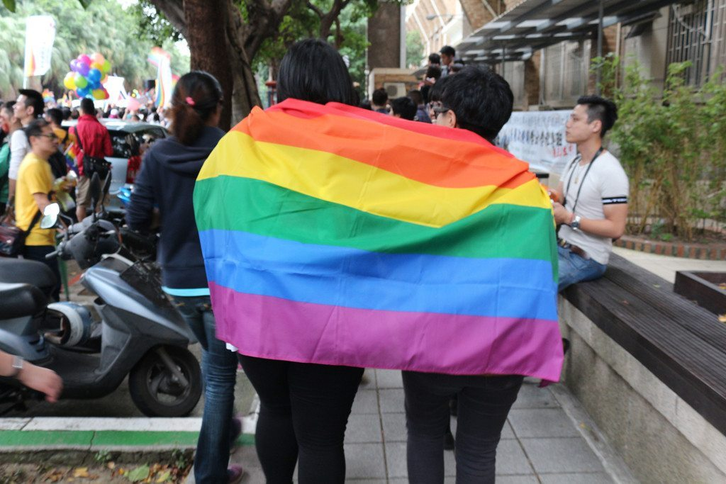 taiwan lgbt pride rainbow flag