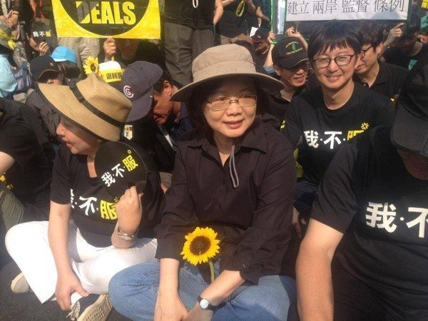 cai-yingwen in sunflower movement
