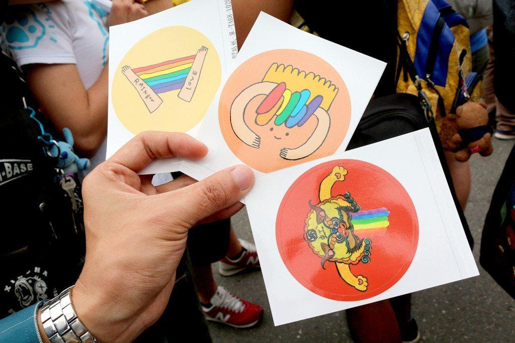 tainan LGBT pride stickers