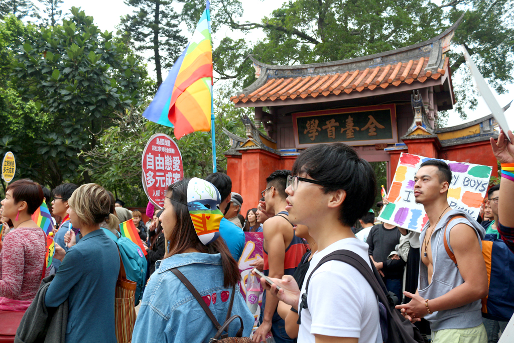 tainan LGBT pride confucian temple
