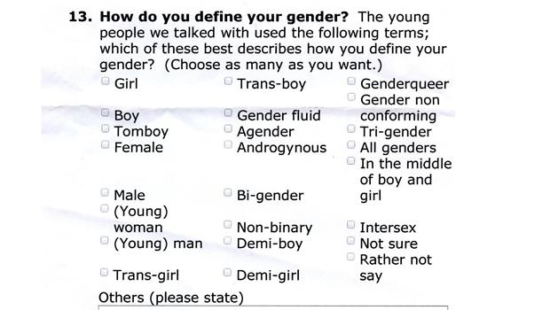 gender categories