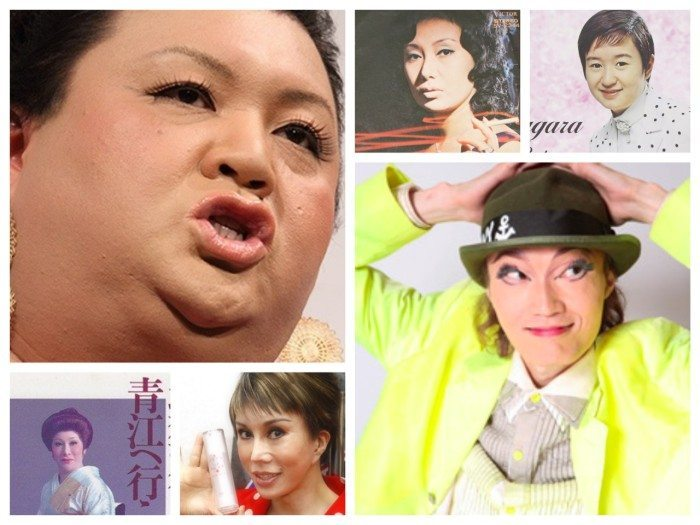 (左上から時計回りに)マツコデラックス、沢たまき、佐良直美、日出郎、ベティ、青江のママ