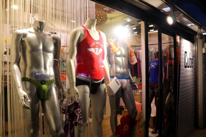 ximen red house underwear showwindow