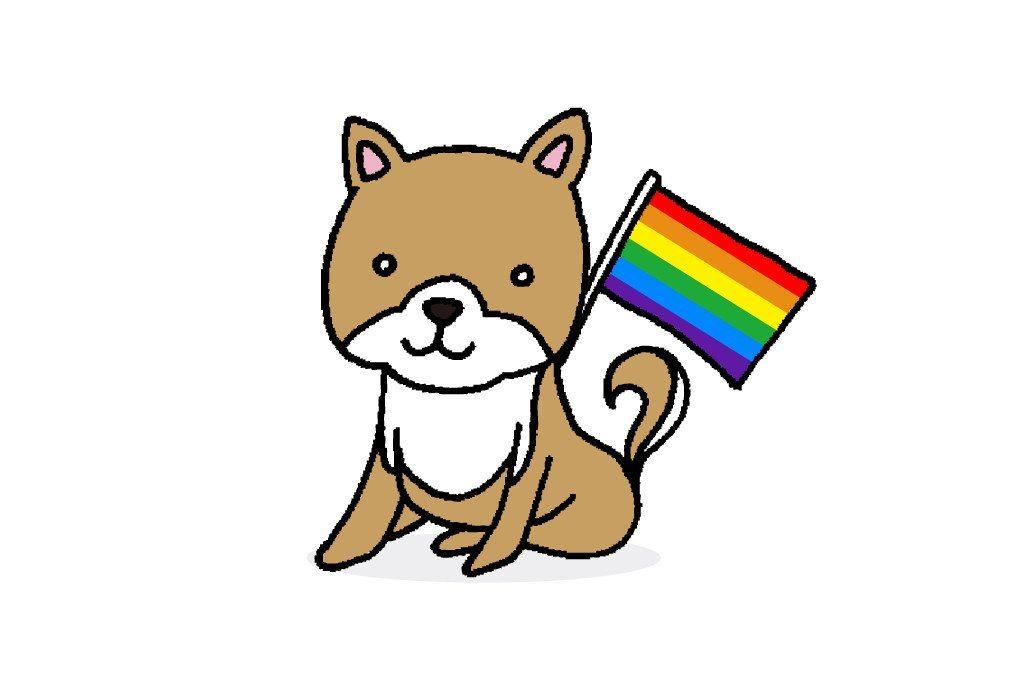 rainbow shiba inu