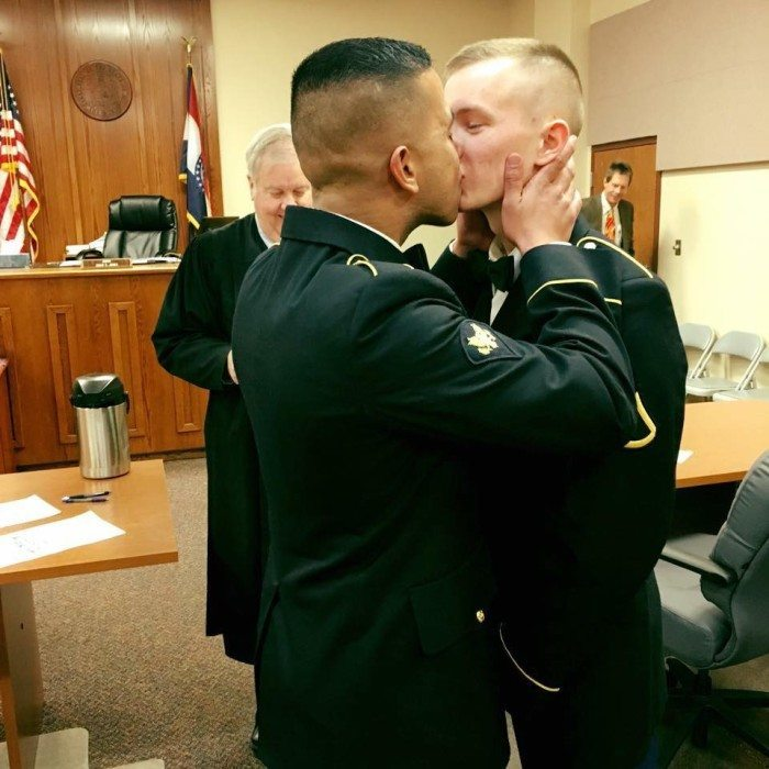 military gay couple