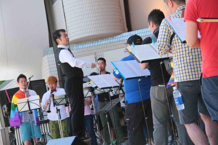 """""""みんな""""で、ブラス! セットリスト【ステージ編】 1)『五月の風』/真島俊夫作曲 2)『交響組曲「ドラゴンクエストⅠ 」序曲』/すぎやまこういち作曲 3)『イーストコーストの風景』よりシェルターアイランド、ニューヨーク/ナイジェル・ヘス作曲 ※2)は何を演奏するかを知らせずにその場で全員に楽譜を渡していきなり演奏するというサプライズ曲でした。 撮影:toboji"""