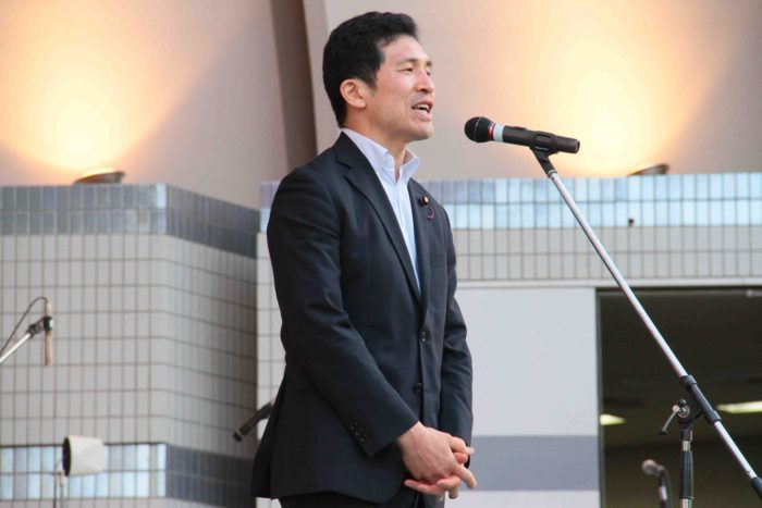 公明党  新妻ひでき 参議院議員  撮影:toboji