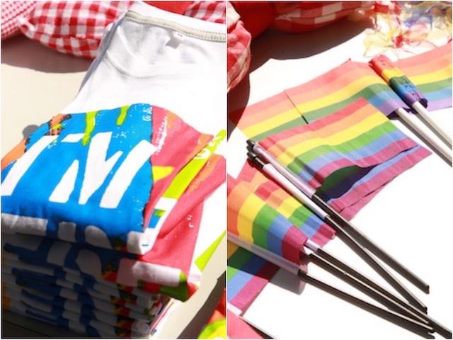 YOKOHAMAダイバーシティパレード2016の公式グッズは、Tシャツとレインボーフラッグ。パレードには欠かせないアイテムですね。