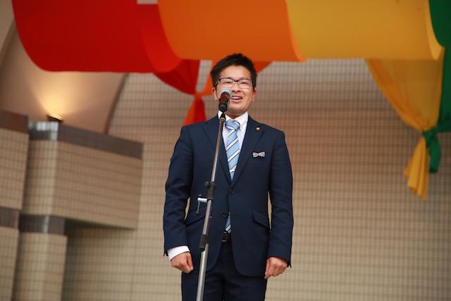 細田智也入間市議(東京レインボープライド2017にて)撮影:ナカノタイスケ