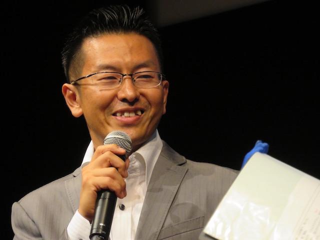 多くの人が参加してくれたことを喜ぶ、宮澤秀樹代表。