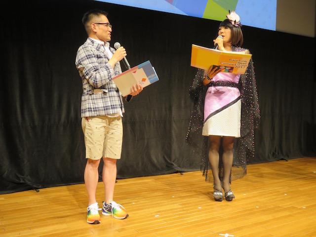 レインボー・リール・コンペティション2017とクロージング・イベントの進行役 ブルボンヌさん(右)と映画ライターよしひろまさみちさん(左)