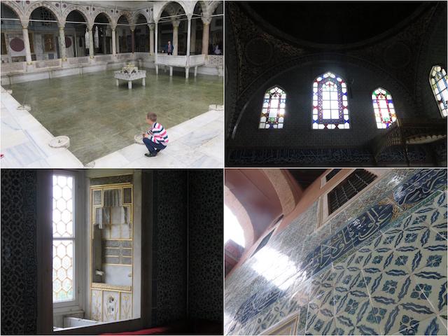 ガイドさんの詳しい解説を聞きながら、トプカピ宮殿での王室の暮らしに思いを馳せます。
