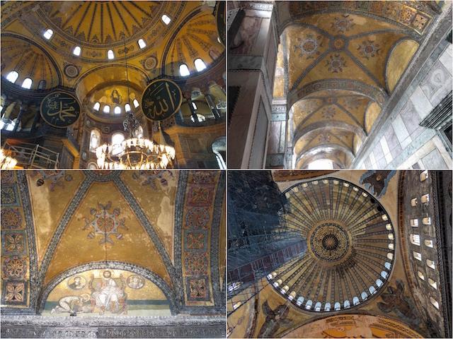 荘厳な美しさに圧倒されるアヤ・ソフィアの内部。映画「インフェルノ」でもロケ撮影に使われました。