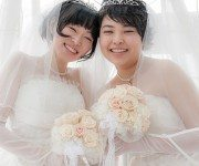 lgbt couple having wedding