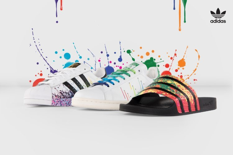 Adidas limited model in lgbt pride parade