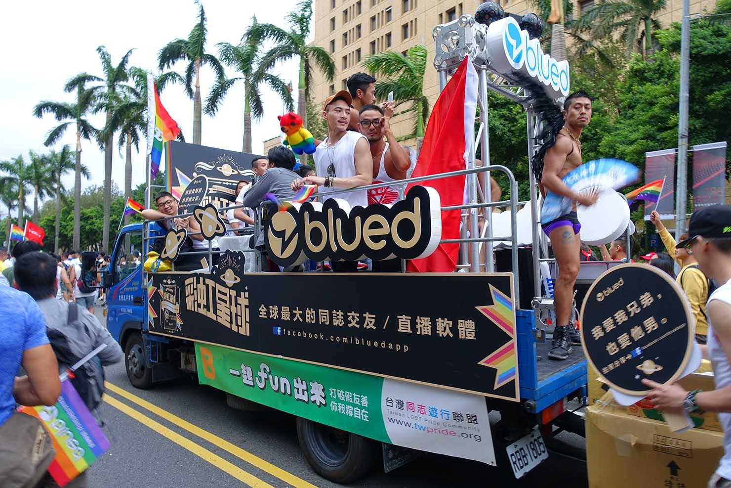 2016台灣同志遊行に登場したパレードカー(撮影:Kazuki Mae)